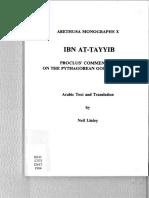 (Arethusa Monographs X) Ibn Aṭ-Ṭayyib-Proclus' Commentary on the Pythagorean Golden Verses.pdf
