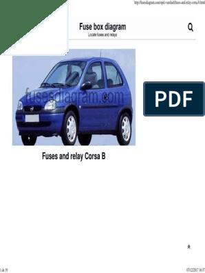 fuse box diagram opel_vauxhall corsa b headlamp opel Corsa B Fuse Box List