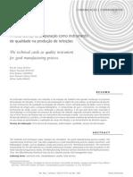 A ficha técnica de preparação como instrumento de qualidade na produção de refeições