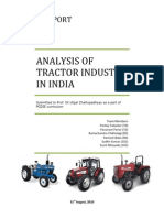 Analysis of Tractor Industry in India