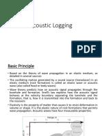 Acoustic Logging