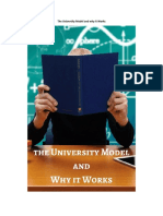 The University Model and Why It Works