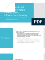 Fostering incidental experiences of nature through green infrastructure planning