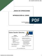 00 Gerencia de Operaciones - Introducción Al Curso