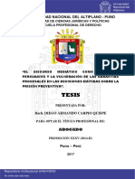 Carpio Quispe Diego Armando Discurso Medíatico Persuasivo