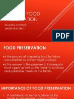 Ways of Food Preservation
