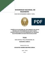 REMOCION CON ELECTROQUIMO DE AGUAS RESIDUALES