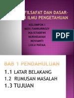 Sejarah Filsafat Sains dan dasar-dasar pengetahuan PPT.pptx