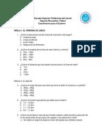 Cuestionario Futbol