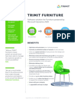 TRIMIT Furniture - ERP Software Solution. Certified for Microsoft Dynamics