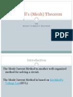 Maxwells Mesh Theorem