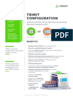 TRIMIT Configuration - ERP Software Solution. Certified for Microsoft Dynamics