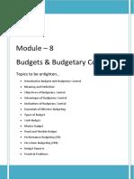 Budget & Budgetary Control _sem-I