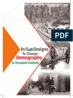 Indian Designs to change demography in Jammu and Kashmir