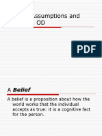 Values Assumptions and Beliefs in OD