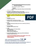 Lista de Tareas Encargadas Para El Programa Educativo Del Adulto Mayor