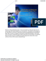 Identification of Melanized (Dematecious)Fungi