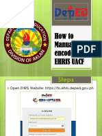 How to Manually Encoding the EHRIS UACF