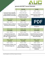 3 Day PMP Executive Agenda