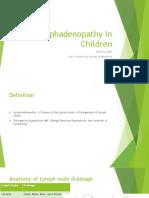 Lymphadenopathy in Children