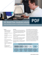 NX Mold Flow Analysis
