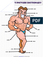 Body Parts Pictionary Poster Vocabulary Worksheet