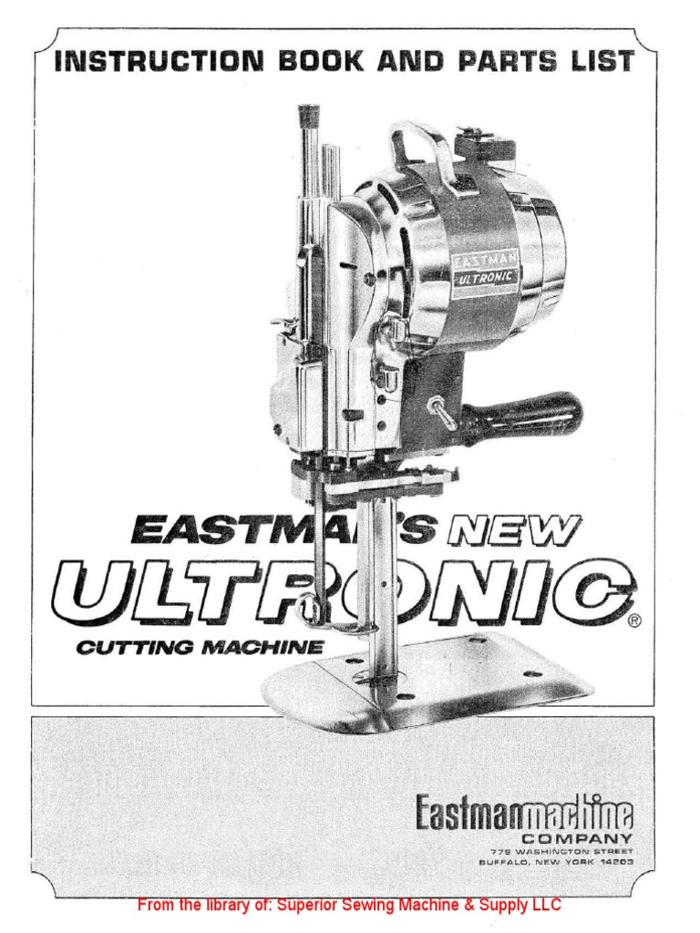 SWITCH CUTOUT #580C1-70 fits EASTMAN 625 CUTTING MACHINE