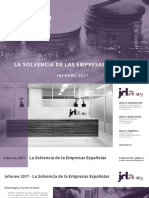 Informe Estudio Sobre La Solvencia de Las Empresas Españolas 2017