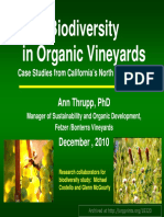 Biodiversity in Organic Vineyards