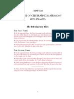 The Order of Celebrating Matrimony
