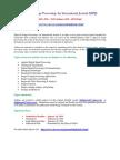 Signal Image Processing an International Journal (SIPIJ)