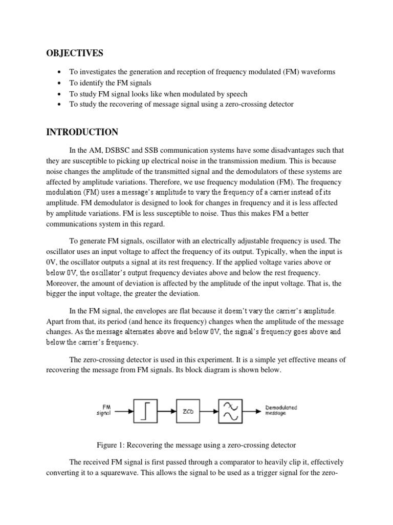 Lab 4 Frequency Modulation Detector Radio Figure 1 Envelope Circuit