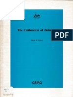 Calibration of Balance - CSIRO