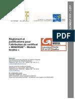 Minergie Reglement Fenster 2015 Fr
