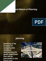 Scope of Planning