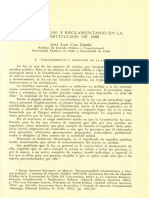 Constitucional Dominio Real y Reglamentario de La Cpe Del 80