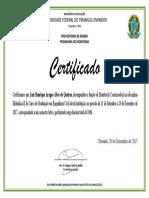 Certificado 180 Horas
