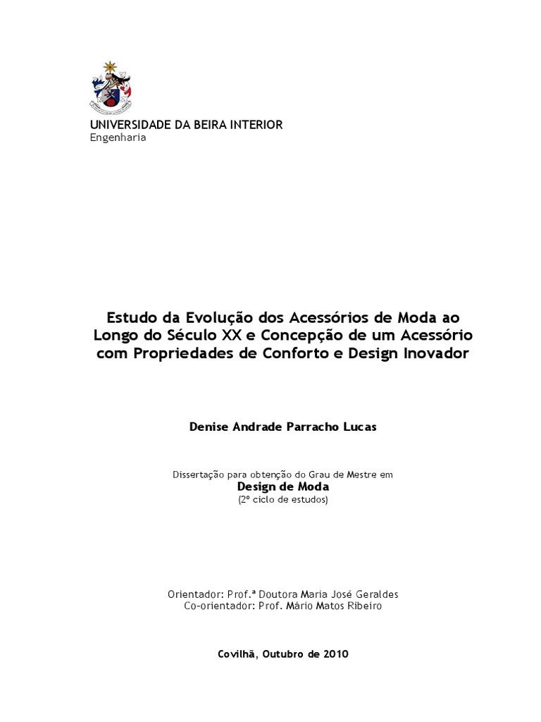 3942805b37 Estudo Da Evolução Dos Acessórios de Moda Ao Longo Do Século XX e Concepção  de Um Acessório Com Propriedades de Conforto _1