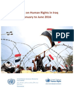 UNAMI OHCHR Report on Human Rights in Iraq Jan to June 2016 FINAL 20Nov2016.PDF Very Important