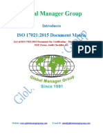 List of Documents for ISO 17021:2015 Certification