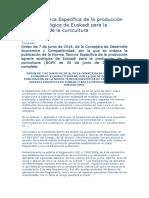 Norma Técnica Específica de La Producción Agraria Ecológica de Euskadi Para La Producción de La Cunicultura