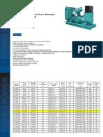 Dongfeng Cummins Power Generator Datasheet Hcm165