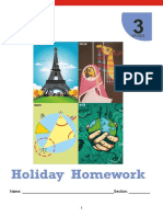 Grade 3 Holiday Homework
