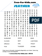 Printable Weather Word Search Quiz
