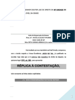 Replica Contestacao Dano Moral Indenizacao in Re Ipsa Mero Dissabor Aborrecimento Pn1042