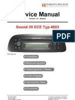 Car Radio Manual Sound 30 ECE Typ 4603-Circuit Diagram