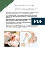 Alimentos Como Factores Que Influyen en La Talla y Peso Del Bebe