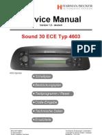 Car Radio Manual Sound 30 ECE Typ 4603-Car Radio Manuals