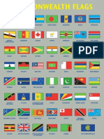 A 3 Commonwealth Flags Poster 2010