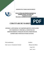 Cercetare de Marketing-Gheaus D. Ana-Maria